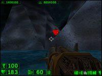 Sekret #5: Kiedy zeskoczymy w jaskini w dół, znajdziemy się w podziemiu zalanym częściowo wodą - 05: Księżycowe góry - Serious Sam: Pierwsze starcie - poradnik do gry