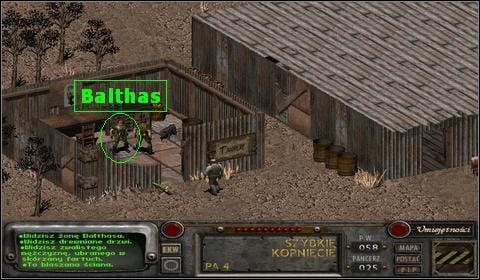 Od tej pory w poszukiwaniach, będzie nam towarzyszył psiak chłopca - Laddie - Modoc (2) - Opis przejścia - Fallout 2 - poradnik do gry