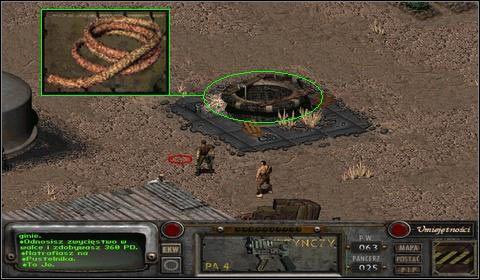 Gdy zejdziemy na dół, natrafimy na porozrzucane wszędzie monety - Modoc (2) - Opis przejścia - Fallout 2 - poradnik do gry