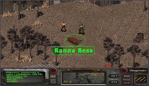 By móc wyleczyć nogę Bess, musimy w tym celu użyć na niej umiejętności: Lecz - Modoc (2) - Opis przejścia - Fallout 2 - poradnik do gry