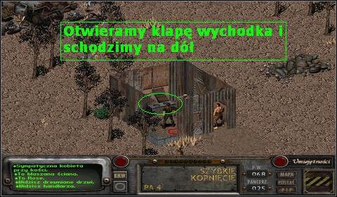 Otwieramy klapę i schodzimy na dół - Modoc (3) - Opis przejścia - Fallout 2 - poradnik do gry