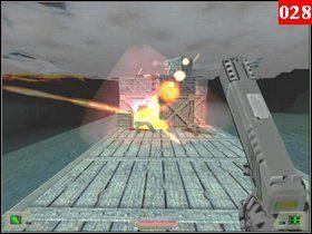 Helikopter zniszczył jedną z paczek, czym ułatwił Ci kontynuowanie gry - Misja 02 - Uganda - Opis przejścia - Soldier of Fortune - poradnik do gry