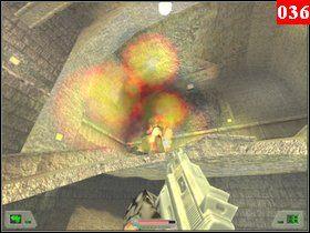 Załatw pana i idź tunelem do nieco większego pomieszczenie, jest tutaj do wyeliminowania trzech drabów - Misja 03 - Kosowo 1 (1) - Opis przejścia - Soldier of Fortune - poradnik do gry
