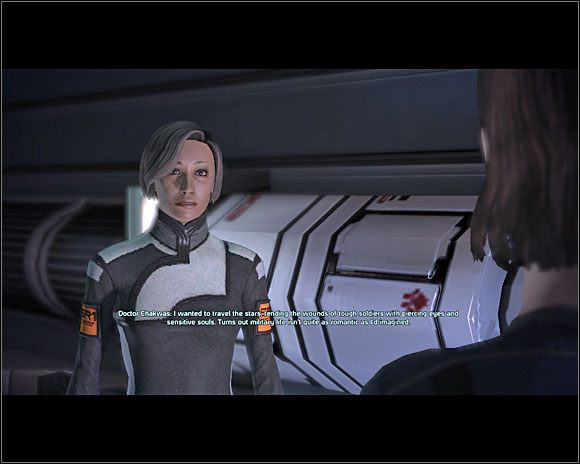 Po załatwieniu sprawy wracamy do dr Michel (C7-1 ) i mówimy jej, że już nie musi się martwić - [3. Cytadela] Zadania cz.3 - Mass Effect - PC - poradnik do gry
