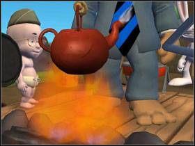 Nalej wody do szklanki i wlej do czajnika wiszącego nad paleniskiem - Episode 2 - Moai Better Blues (cz.2) - Sam & Max: Beyond Time and Space - poradnik do gry