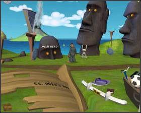 Twoim zadaniem jest pozbycie się piranii, by móc nabrać wody ze Źródełka i dać ją Jimmyemu - Episode 2 - Moai Better Blues (cz.3) - Sam & Max: Beyond Time and Space - poradnik do gry