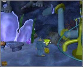 Uderz w niebieski gong - ten stojący przy prawym uchu żeńskiego posągu - Episode 2 - Moai Better Blues (cz.3) - Sam & Max: Beyond Time and Space - poradnik do gry