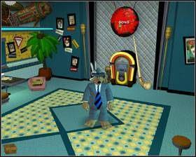 Zauważ, że w restauracji wisi gong - Episode 2 - Moai Better Blues (cz.4) - Sam & Max: Beyond Time and Space - poradnik do gry