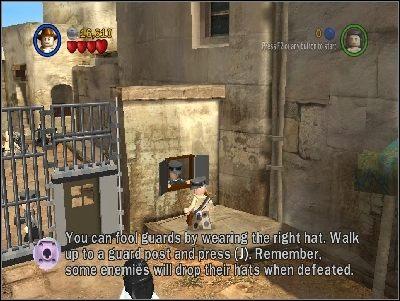 W następnej lokacji musisz znaleźć ubranego na czarno Niemca - Chapter 3 - City of Danger (cz.3) - Poszukiwacze Zaginionej Arki - LEGO Indiana Jones: The Original Adventures - poradnik do gry