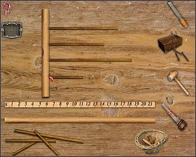 Teraz wybierz pokazany na screenie jaśniejszy kawałek drewna i również umieść go bezpośrednio pod linijką - Posiadłość Godalmingów (cz.4) - Londyn - Dracula: Początek - poradnik do gry