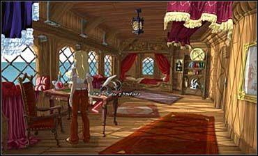 Wraca na statek Morgany, wędruje pod pokład i wręcza chłopcu pastę, otrzymując w zamian szydło - Przystań cz.2 | Rozdział pierwszy - So Blonde: Blondynka w opałach - poradnik do gry