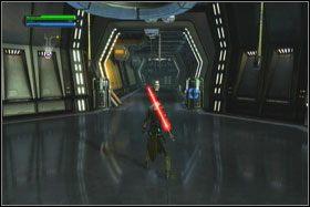Po obejrzeniu filmiku biegnij przed siebie korytarzem stacji kosmicznej - Misja 01 - TIE Fighter Factory (cz.1) - Star Wars: The Force Unleashed - poradnik do gry