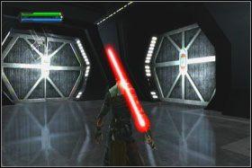 Za każdym razem, kiedy Starkiller awansuje na kolejny poziom doświadczenia, otrzymasz po jednej ze sfer Mocy - Misja 01 - TIE Fighter Factory (cz.1) - Star Wars: The Force Unleashed - poradnik do gry