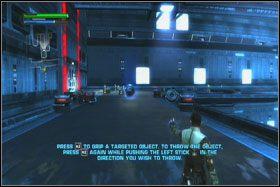 Po przejściu przez kilka kolejnych śluz dotrzesz do olbrzymiego korytarza, którym non stop przelatują TIE Fightery - Misja 01 - TIE Fighter Factory (cz.1) - Star Wars: The Force Unleashed - poradnik do gry
