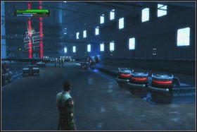 Po wjechaniu windą na wyższy poziom ponownie udaj się na tyły pokoju kontrolnego - Misja 01 - TIE Fighter Factory (cz.1) - Star Wars: The Force Unleashed - poradnik do gry