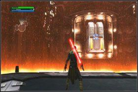 Kota zastawił na Ciebie pułapkę w postaci pomieszczenia z barierą energetyczną - Misja 01 - TIE Fighter Factory (cz.2) - Star Wars: The Force Unleashed - poradnik do gry