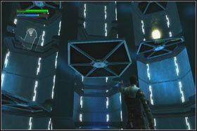W następnym pomieszczeniu po zabiciu wszystkich wrogów przekonasz się, że linia transportująca została wcześniej uszkodzona - Misja 01 - TIE Fighter Factory (cz.2) - Star Wars: The Force Unleashed - poradnik do gry