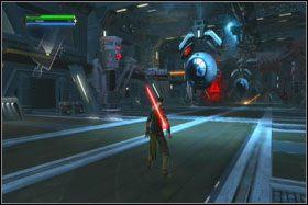 Po kilku następnych walkach w korytarzu dojdziesz do windy - Misja 01 - TIE Fighter Factory (cz.3) - Star Wars: The Force Unleashed - poradnik do gry