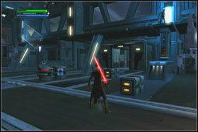 Obok bariery jest jeszcze inny holocron - Misja 01 - TIE Fighter Factory (cz.3) - Star Wars: The Force Unleashed - poradnik do gry