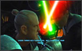Ostatni znajduje się za kadłubem TIE Fightera po prawej stronie, na samym końcu montażowni - Misja 01 - TIE Fighter Factory (cz.3) - Star Wars: The Force Unleashed - poradnik do gry