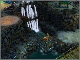 Latająca platforma zabierze Cię na wyższy poziom kopalni. - Traktat pokojowy z krasnoludami - Zadania główne - Kings Bounty: Legenda - poradnik do gry