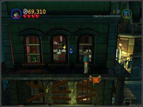 Free Play: Silną postacią usuń kontener i wyjedź na pięterko - There She Goes Again (cz.2) - Heros Episode 2 - LEGO Batman: The Videogame - poradnik do gry