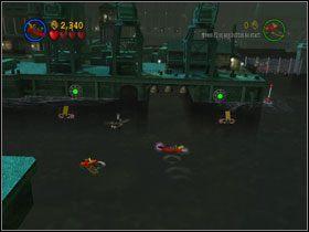 Free Play: By dostać Kanister (#3) , potrzebna jest łódź podwodna - Batboat Battle (cz.1) - Heros Episode 2 - LEGO Batman: The Videogame - poradnik do gry