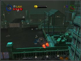 Przeskocz bram� i zniszcz j� od drugiej strony - Batboat Battle (cz.1) - Heros Episode 2 - LEGO Batman: The Videogame - poradnik do gry
