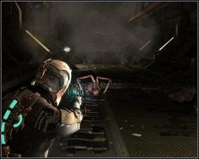 Wracamy do tunelu kolejki, po raz kolejny spowalniając drzwi z zepsutym mechanizmem - Nowe transporty (cz.3) | Rozdział 01 - Dead Space - poradnik do gry