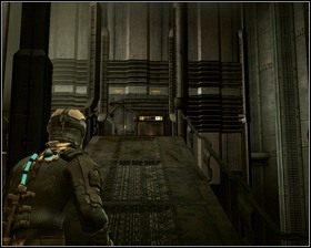 Jadąc windą, przygotujmy broń do strzału, po dojechaniu na dół, czeka nas niemiła niespodzianka - Nowe transporty (cz.3) | Rozdział 01 - Dead Space - poradnik do gry