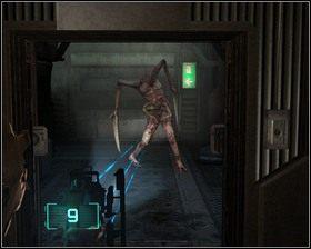 Wychodzimy z biura, po rozprawieniu się z mutantami udajemy się w kierunku windy do hali ładunkowej, którą przyjechaliśmy do sektora naprawczego - Nowe transporty (cz.3) | Rozdział 01 - Dead Space - poradnik do gry