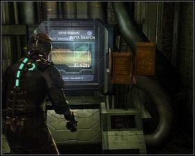 Idziemy wzdłuż korytarza, to dobry moment na skorzystanie ze Stacji zapisu - Nowe transporty (cz.3) | Rozdział 01 - Dead Space - poradnik do gry
