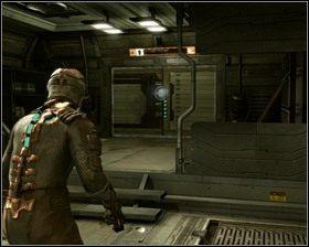 Wchodzimy do poczekalni, a z niej bez problemu trafiamy do hangaru, w którym awaryjnie wylądowaliśmy na początku gry - Nowe transporty (cz.4) | Rozdział 01 - Dead Space - poradnik do gry