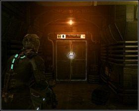 Wracamy w kierunku poczekalni, wchodzimy przez drzwi prowadzące do stacji kolejki - Nowe transporty (cz.4) | Rozdział 01 - Dead Space - poradnik do gry