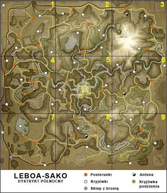 1 - Leboa-Sako - Mapa ogólna - Mapy - Far Cry 2 - poradnik do gry
