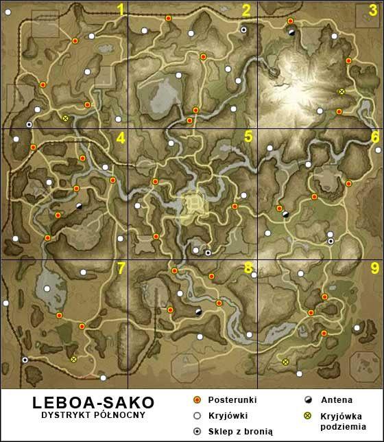 1 - Leboa-Sako - Mapa og�lna - Mapy - Far Cry 2 - poradnik do gry