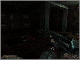 Gdy ich wyeliminujesz, spodziewaj się drugiej fali, nadchodzącej z pomieszczeń po lewej - Szpital (część II) - Dusk-12: Strefa Śmierci - poradnik do gry