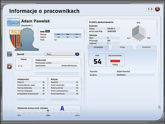 1 - Kadra i podział obowiązków (cz.1) - Drużyna - FIFA Manager 09 - poradnik do gry