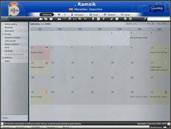 Kalendarz - narzędzie przypominające kalendarz, jaki wprowadzono chociażby w poczcie Gmail - Zarządzanie drużyną - Podstawowe funkcje - Football Manager 2009 - poradnik do gry
