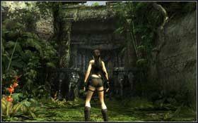 Jeszcze tylko przejd� pod stert� gruz�w (Ctrl ) i staniesz naprzeciwko sporej budowli, po kt�rej trzeba b�dzie wspi�� si� na sam� g�r� - Coastal Thailand - Remnants (cz.1) - Solucja - Tomb Raider: Underworld - poradnik do gry