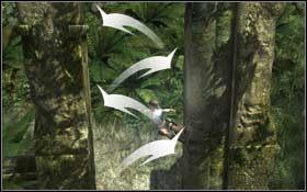 Z niej przeskocz na gzyms,, z którego odbij się w kierunku kawałka belki wmurowanej w kolumnę stojącą w drugim rzędzie - Coastal Thailand - Remnants (cz.2) - Solucja - Tomb Raider: Underworld - poradnik do gry