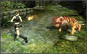 Przejd� w lew� stron�, z�ap si� kraw�dzi i przejd� na placyk przed g��wnym wej�ciem - Coastal Thailand - Remnants (cz.2) - Solucja - Tomb Raider: Underworld - poradnik do gry