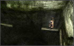 Przesuwaj si� w praw� stron�, a w miejscu zw�enia przeskocz na prawo - Coastal Thailand - Remnants (cz.2) - Solucja - Tomb Raider: Underworld - poradnik do gry