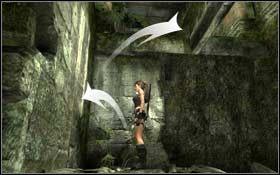 Opuść się na dół kolejnej dziury i na rozwidleniu skręć w prawo - Coastal Thailand - Remnants (cz.2) - Solucja - Tomb Raider: Underworld - poradnik do gry