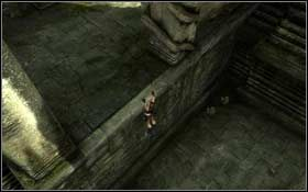 Podejdź do drążka blokującego mechanizm, podskocz do niego i go wyciągnij - Coastal Thailand - Bhogavathi (cz.1) - Solucja - Tomb Raider: Underworld - poradnik do gry