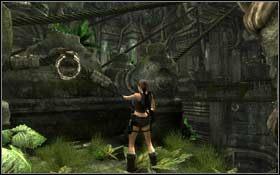 Dojdź do końca, podciągnij się i odbijając się od ściany wskocz poziom wyżej - Coastal Thailand - Bhogavathi (cz.1) - Solucja - Tomb Raider: Underworld - poradnik do gry