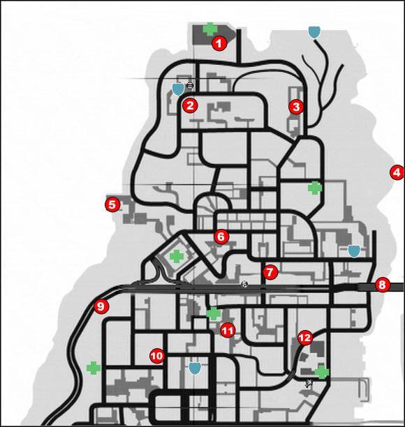 1 - Broń, kamizelki, apteczki - Alderney - Podstawy - Grand Theft Auto IV - PC - poradnik do gry