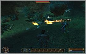 Zwróć uwagę na to, że w jaskini znajdują się Kroniki Dominacji i miecz Austina - GELDERN (1) | Questy - Gothic 3: Zmierzch Bogów - poradnik do gry