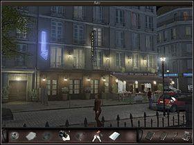Ostateczne agentka Bonnet wychodzi z opresji zwycięsko i znalazłszy się w samochodzie, decyduje się jechać do hotelu - Hotel #3 - Francja, Paryż - Art of Murder: Klątwa Lalkarza - poradnik do gry