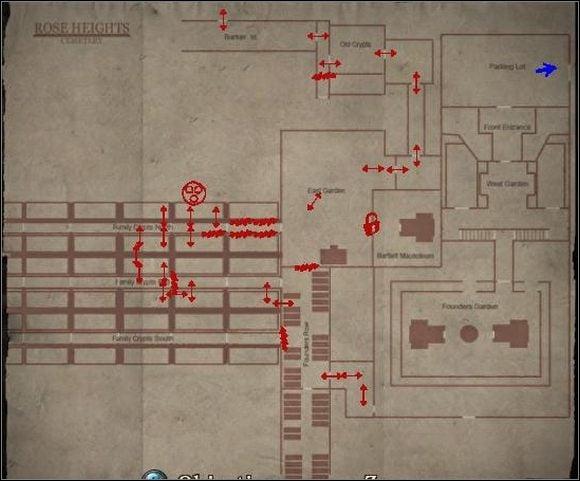 Id� w lewo, a nast�pnie tak jak prowadzi droga - Rose Heights Cemetary - Shepherd's Glen - Silent Hill: Homecoming - poradnik do gry